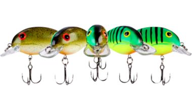Crankbaits come in all colors and sizes.