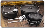 A selection of Dutch ovens.
